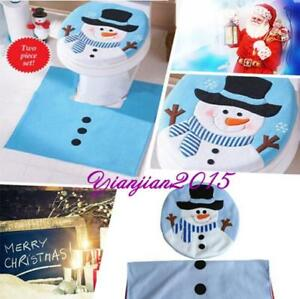 Phenomenal Details About Blue Snowman Toilet Seat Cover Rug Set Home Bathroom Decoration Xmas Gift J Cjindustries Chair Design For Home Cjindustriesco