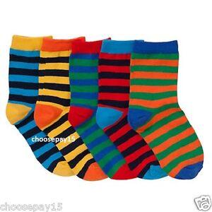 12-Pair-Children-Kids-Bright-Summer-Colour-Stripe-Striped-Ankle-FreshFeel-Socks