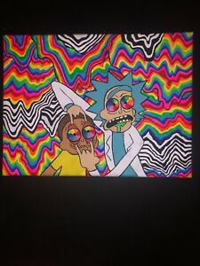 Rick And Morty Trippy Glow Painting   eBay