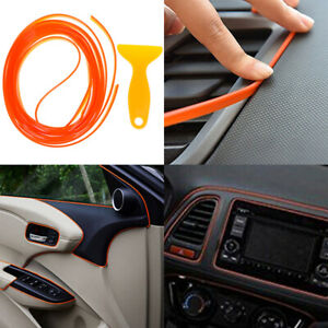 5M-Orange-car-styling-interior-molding-trim-decorate-strip-line-gap-filler-ki-UQ