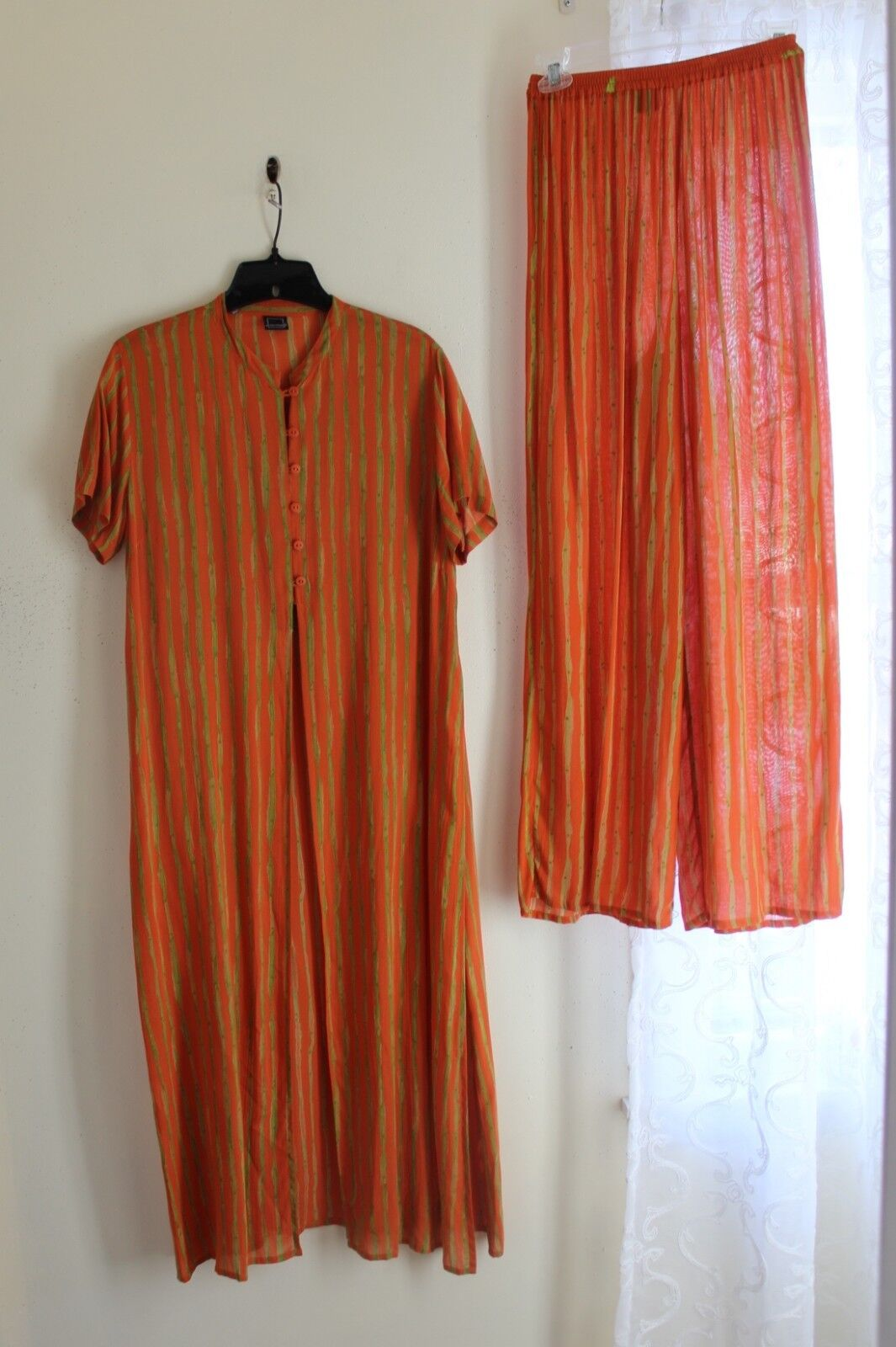 Animale French Sz XS S LAGENLOOK Art-to-Wear Long Culottes Long Tunic Jacket