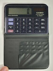 RARE-Casio-SL-790ER-calculator-Solar-Battery-8-Digit-Euro-Convertion