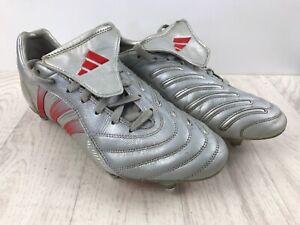 Adidas-Predator-Pulse-SG-UK-7-5-Chaussures-De-Football-Argent-amp-Rouge-2004-BECKHAM-Cuir
