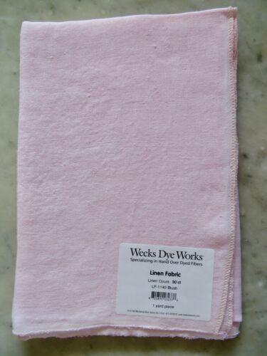 10/% Off Weeks Dye Works 30 count Hand-dyed Linen Blush