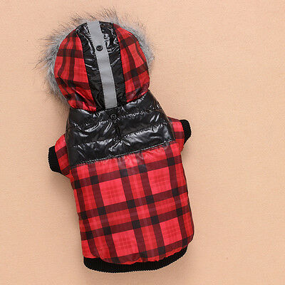 Dog Pet Warm Cotton Jacket Coat Hoodie Puppy Winter Clothes Pet Costume New