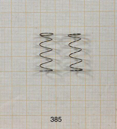DrahtØ 0,55mm 2 x Druckfeder nichtrostend - 385 Länge 24mm Außen Ø9mm