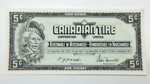 1974-Canadian-Tire-Money-5-Five-Cents-CTC-S4-B-AM-Uncirculated-Banknote-E154