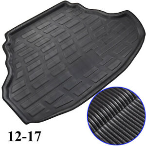 For VW Jetta Mk6 11-18 Sedan Rear Trunk Cargo Mat Boot Liner Floor Carpet Tray