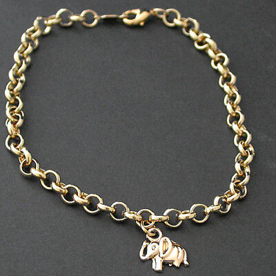 """10/"""" 4.5mm BELCHER Link 14k Gold EP Anklet FOOT Ankle CHAIN Fashion Jewelry"""