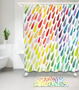 Image Is Loading Waterproof Fabric Colorful Raindrop Shower Curtain Liner Bathroom