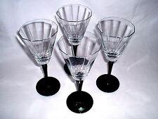 4 Kristallgläser mit schwarzem Stand Sektgläser KLINGENBRUNN Kristallglas 22 cm