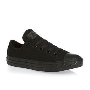 70c935170c9 Converse Chuck Taylor Black Mono OX Youth Boy Girl Kids Canvas Shoes ...