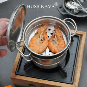 Details About 6 Miniature Cooking Metal Cookware Stove Tiny Kitchen B Day Xmas Gift Toy 11x