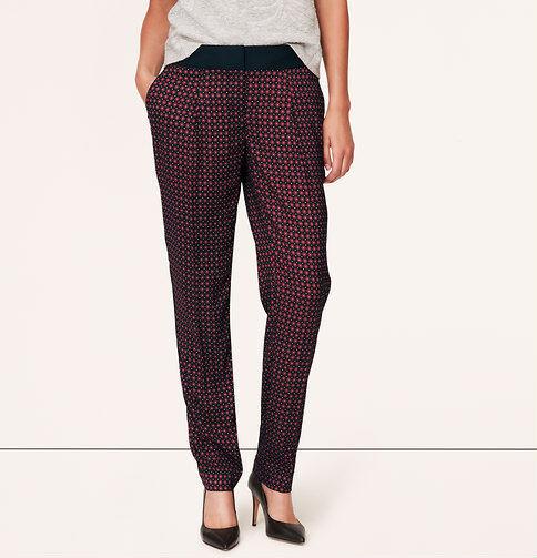 Ann Taylor LOFT Burgundy Deco Fluid Ankle Pants in Marisa Fit Size 0, 6 NWT