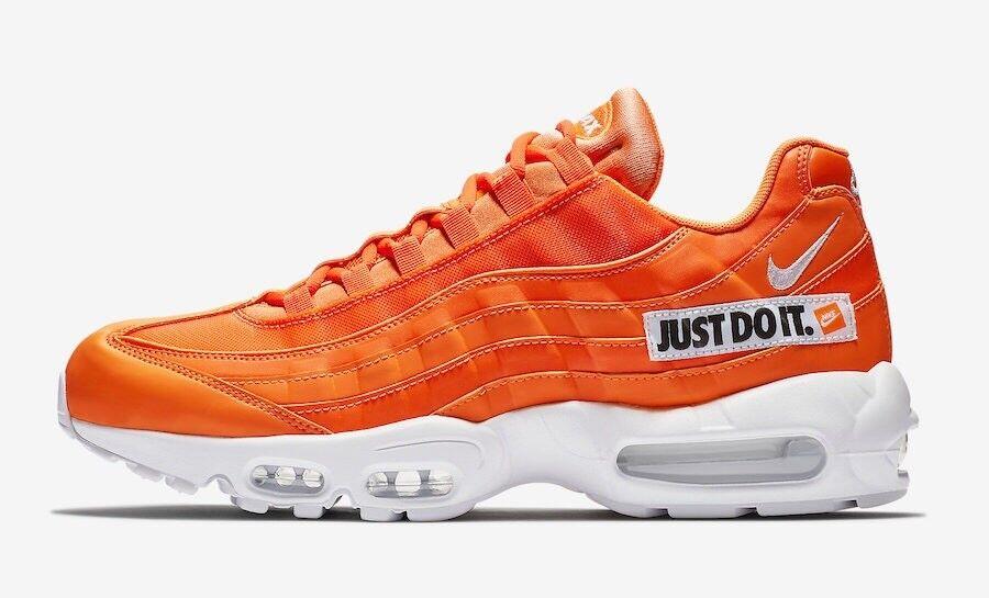 Details about Nike Air Max 95 SE Black Orange Just Do It Men Running Shoes Sneakers AV6246 001