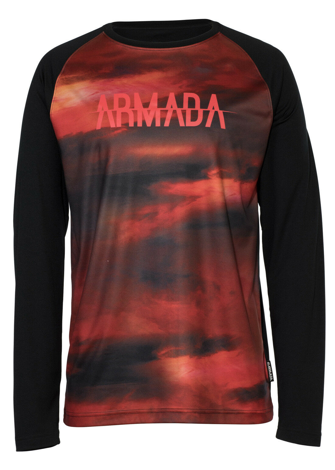 Armada Contra Baselayer Long Sleeve Crew - Men's - Small, Red Resin