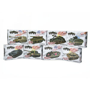 Assemble-Tank-4D-8pcs-Heavy-Weapons-Armor-1-72-Plastic-Model-US-Kit-Battle-Toy