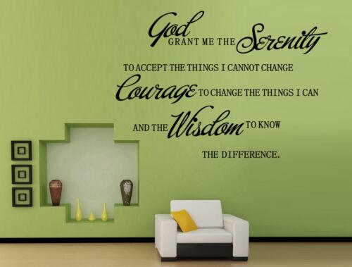 Dios me la concesión de serenidad pegatinas de pared del Reino Unido sh123