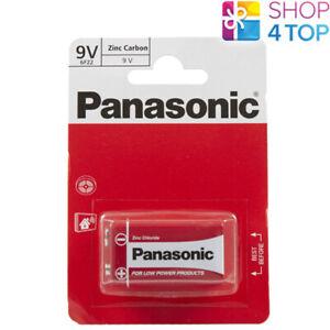 PANASONIC ZINC CARBON 9V 6LR61 BATTERY E BLOCK 6LF22 NEW