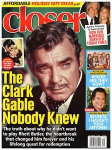 Closer Magazine December 3 2018 Clark Gable Barbra Streisand Wayne Newton