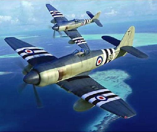 Trumpeter 1 48  Scale Hawker Sea Fury FB.11 Kit