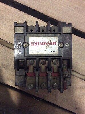 269 SYLVANIA TYPE TM SZ SIZE 1 STARTER T13U031 27 AMPS NEMA 1