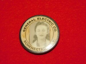 VINTAGE PINBACK BUTTON GENERAL ELECTRIC CO SCHENECTADY NY