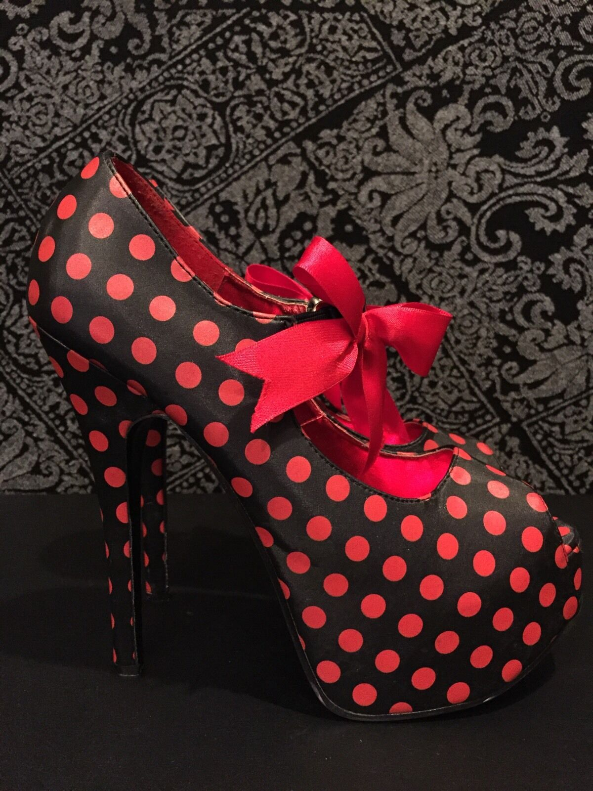 Bordello Polka Dots Pin Up Heels