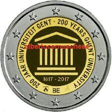 2 euro 2017 fdc BELGIO Gand Gent Ghent Belgium Belgique Belgie Belgica Belgien