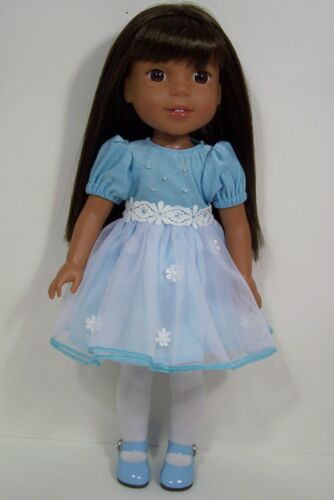 "Debs BLUE Pastel EASTER Dress Doll Clothes For AG 14/"" Wellie Wisher Wishers"