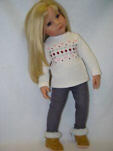 PUPPENKLEIDUNG KLEIDUNG für Puppe Stehpuppe Hannah 50 cm OHNE PUPPE UND SCHUHE