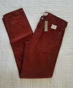 NAVY SIENNA /& CHARCOAL NEW MEN/'S J CREW 770 STRAIGHT FIT PANT IN CORDUROY