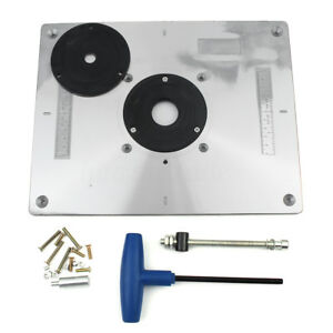 New aluminum router table insert plate 235 x 300 x 8mm with ring image is loading new aluminum router table insert plate 235 x greentooth Choice Image
