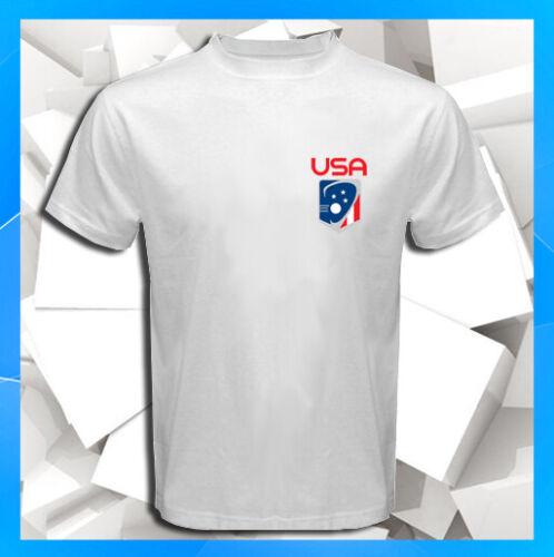 USA LACROSSE Logo Olympic Team Badge NEW Men/'s White T-Shirt S M L XL 2XL 3XL