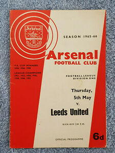 1966-ARSENAL-v-LEEDS-UTD-PROGRAMME-1ST-DIVISION-65-66-LOWEST-ATTENDANCE