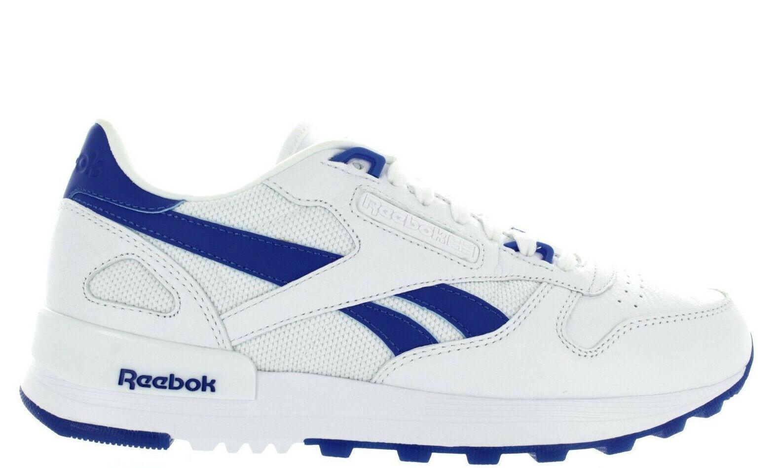 MEN'S REEBOK CL LEATHER 2 0 BS8426 WHITE VITAL blueeE blueeE