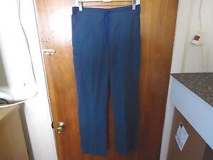 Womens-Girls-Work-Flow-Size-SML-Stretch-Blue-Scrubs-Pants-034-GREAT-PAIR-034