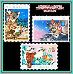 AUSTRALIA-1990-Christmas-mnh-religion-birds-amp-animals-koala