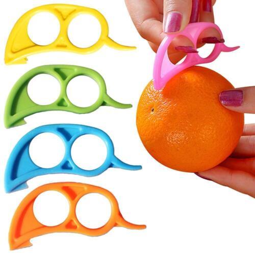 5X Lemon Orange Citrus Fruit Plastic Easy Slicer Cutter Peeler Remover Opener ZH