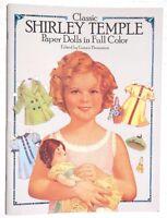 Vtg 1986 Shirley Temple Grayce Piemontesi (dover) Paper Dolls Book / Booklet