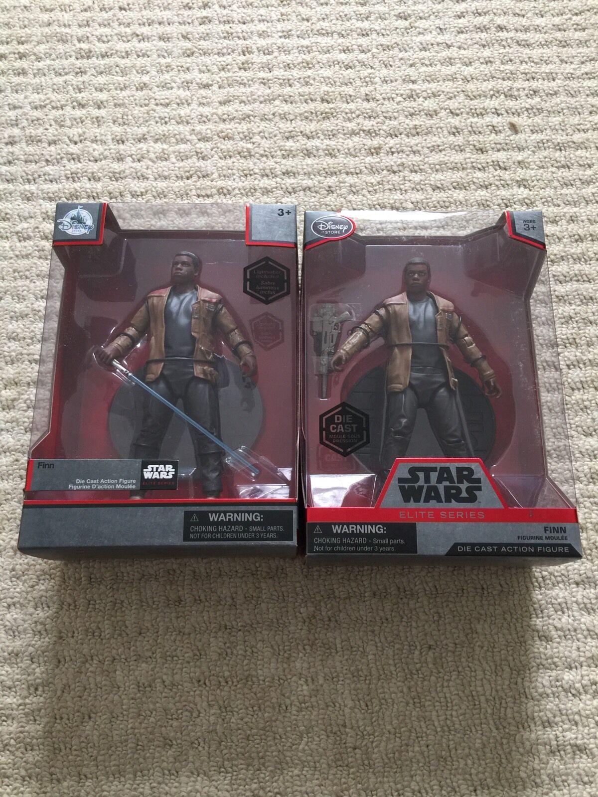 Nuevo y en caja Estrella Wars Finn Con Lightsaber + Finn Die Cast Figura