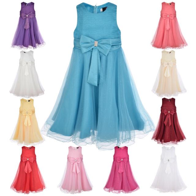SALE Girls Party Dress Flower Girl Wedding Bridesmaid Age 2 3 4 Christening New