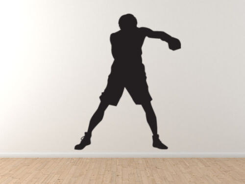 Sport Silhouette Vinyl Wall Decal Boxing Boxer Jab Strike Version 1