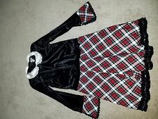 The Childrens Place Dress Black with Checkers Size 10