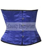 Steel Bone Spiral Shaper Cincher Taillen Waspie Waist Slimming Blue Satin Corset