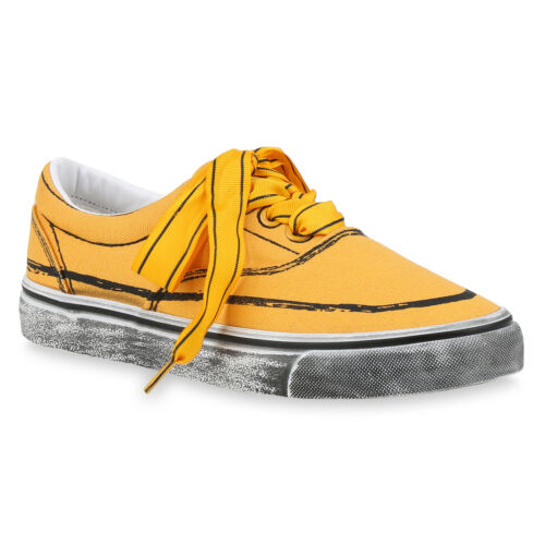 Damen Sneaker Low Print Turnschuhe Schnürer Freizeitschuhe 896892 Hot