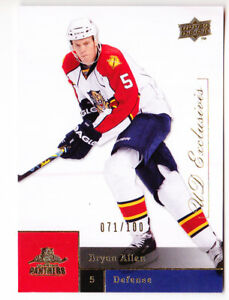 09-10-Upper-Deck-Bryan-Allen-100-UD-Exclusives-Panthers-2009