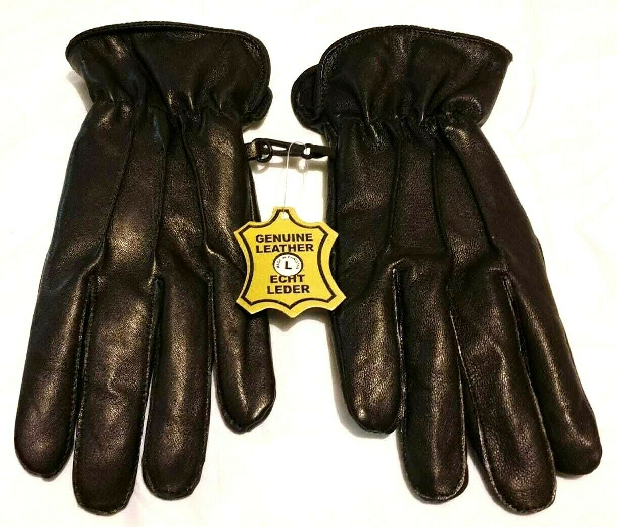 SALE Black 100% Genuine Leather Gloves Winter Dress Gloves