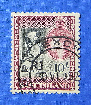 Basutoland (until 1966) Stamps Capable 1961 Basutoland 1r Scott# 71a S.g.# 68 Used Cs20261 Fancy Colours