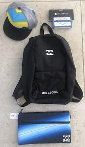 BILLABONG SOLID COMBO  CAP BLACK MEDIUM BNWOT